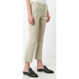 Frame tan Le Crop Mini boot chino pants 8617